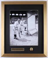 Babe Ruth & Lou Gehrig 13x15 Custom Framed Photo Display with Ring