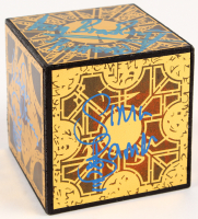 """Hellraiser"" Puzzle-Box Cube Prop Signed by (4) with Doug Bradley, Nicholas Vince, Simon Bamford, & Barbie Wilde (Legends COA)"