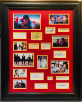 1978's Superman Cast 32x39 Custom Framed Cut Display Signed by (13) with Christopher Reeve, Margot Kidder, Ned Beatty, Gene Hackman, Jackie Cooper, Sarah Douglas (JSA LOA & JSA COA)