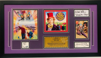 """Willy Wonka And The Chocolate Factory"" 18x32 Custom Framed Display Signed by (6) with Gene Wilder, Michael Bollner, Denise Nickerson, Julie Dawn Cole, Paris Themmen, and Peter Ostrum (JSA LOA & JSA COA)"