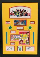 """Toy Story"" 20x28 Custom Framed Cut Display Signed by (9) with Tom Hanks, Tim Allen, John Morris, Wallace Shawn, John Ratzenberger (JSA COA)"
