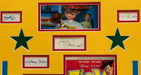 """""""Toy Story"""" 20x28 Custom Framed Cut Display Signed by (9) with Tom Hanks, Tim Allen, John Morris, Wallace Shawn, John Ratzenberger (JSA COA) at PristineAuction.com"""