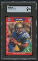 1989 Pro Set #490 Troy Aikman RC (SGC 9)