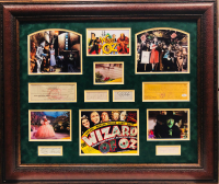"""The Wizard of Oz"" 33x39 Custom Framed Display Signed by (6) with Judy Garland, Jack Haley, Bert Lahr, Ray Bolger, Billie Burke & Margaret Hamilton (JSA LOA & JSA COA)"