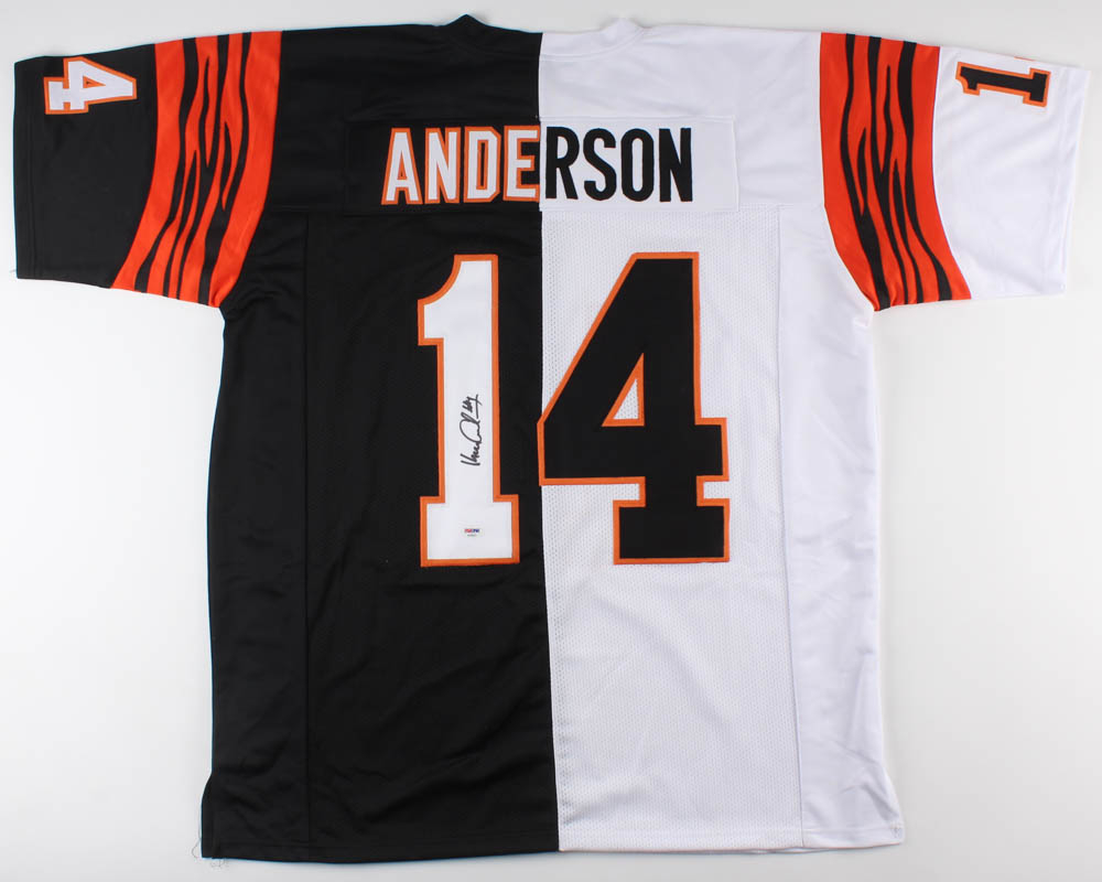 482a6eba75f Ken Anderson Signed Cincinnati Bengals Split Home   Away Jersey (PSA COA)  at PristineAuction