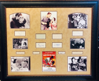 """Gone With the Wind"" 39x47 Custom Framed Display Signed by (10) with Vivien Leigh, Clark Gable, Olivia de Havilland, Butterfly McQueen, Leslie Howard (JSA LOA)"