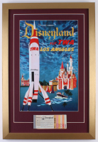 Disneyland 17x25 Custom Framed Vintage Poster Display with Vintage Ticket Booklet