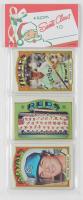 1975 Topps Baseball Unopened Christmas Rack Packs of (12) Baseball Cards