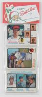 1973 Topps Baseball Unopened Christmas Rack Packs of (12) Baseball Cards