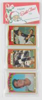 1972 Topps Baseball Unopened Christmas Rack Packs of (12) Baseball Cards
