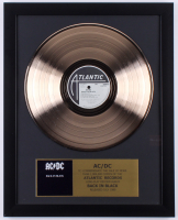 "AC/DC Custom Framed 15.75x19.75 Gold Plated ""Back in Black"" Record Album Award Display"
