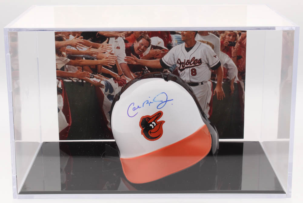 d9fc3d3fe Cal Ripken Jr. Signed Baltimore Orioles Mini-Helmet with High Quality Photo  Display Case (PSA COA)