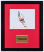 "Warner Bros. ""Bugs Bunny At The Movies"" 16x19 Custom Framed Hand-Painted Animation Serigraph Display"