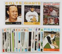 Lot of (50) 1964 Topps Basbeall Cards with #280 Juan Marichal, #205 Nellie Fox, #7 NL Batting Leaders / Tommy Davis / Roberto Clemente / Dick Groat / Hank Aaron