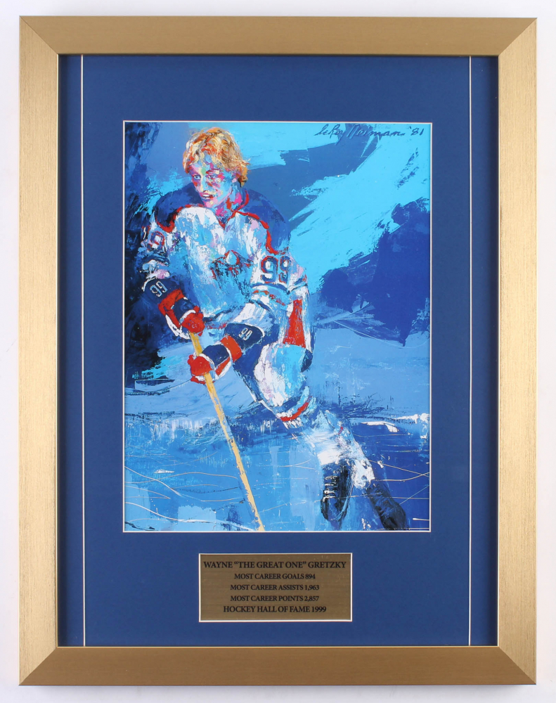 "LeRoy Neiman ""Wayne 'The Great One' Gretzky"" 15x20 Custom Framed Print Display at PristineAuction.com"