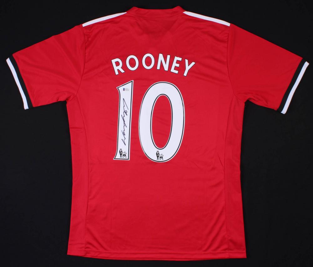 9bc773209 Wayne Rooney Signed Manchester United Adidas Jersey (Beckett COA)