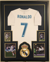Cristiano Ronaldo Signed Real Madrid 34x42 Custom Framed Jersey Display (Beckett COA)