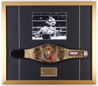 Julio César Chávez Signed 23x26 Custom Framed Belt Display (PSA COA)