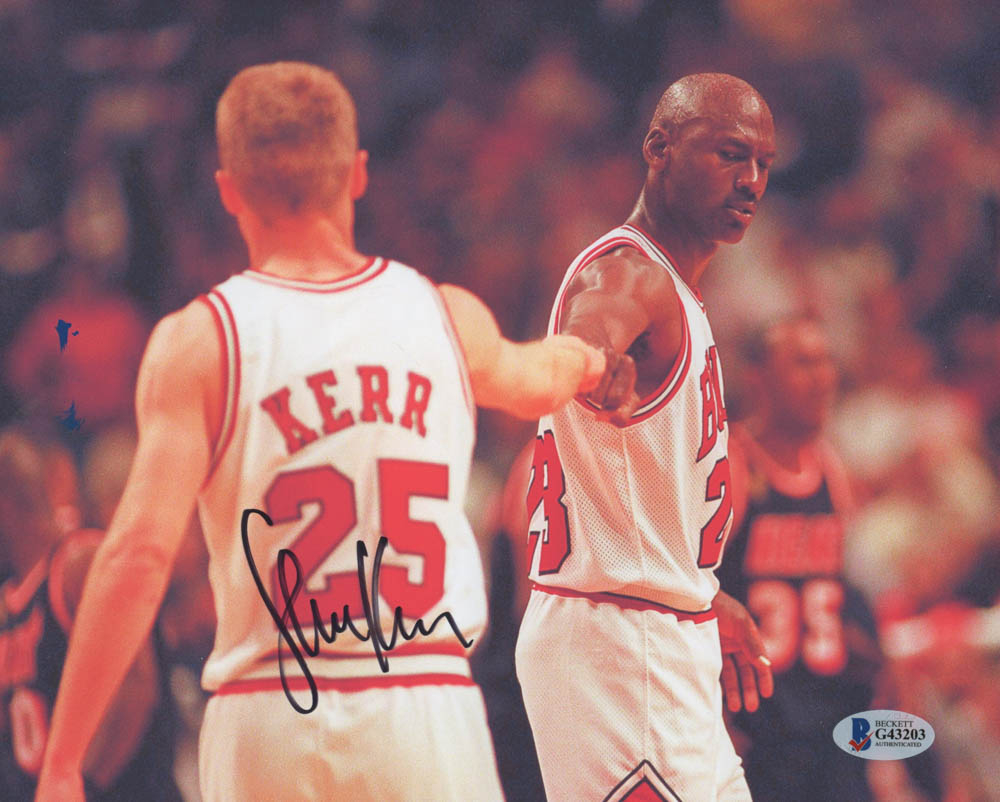 dc912182f Steve Kerr Chicago Bulls 8x10 Photo (Beckett COA)