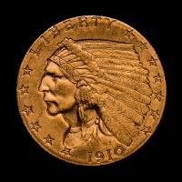 1910 $2.50 Indian Head Quarter Eagle Gold Coin