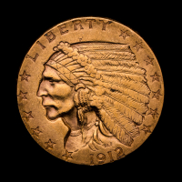 1912 $2.50 Indian Head Quarter Eagle Gold Coin