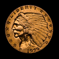 1929 $2.50 Indian Head Quarter Eagle Gold Coin at PristineAuction.com