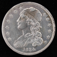 1834 Uncirculated Capped Bust Quarter Dollar