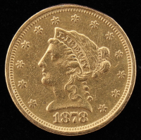 1878-S $2.5 Liberty Head Half Eagle Gold Coin at PristineAuction.com
