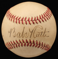 Babe Ruth Signed Baseball With Inscription (JSA ALOA)