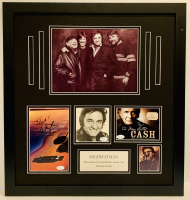 The Highwaymen 22x24 Custom Framed Photo Display Signed by (4) with Johnny Cash, Waylon Jennings, Kris Kristofferson & Willie Nelson (JSA LOA)