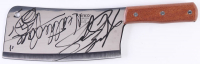 """Andrew Bryniarski Signed """"The Texas Chainsaw Massacre"""" Stainless Steel Cleaver Inscribed """"Leatherface"""" (JSA COA) at PristineAuction.com"""