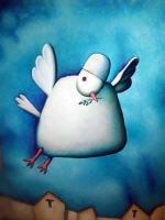 "R S Pinon Signed ""White Dove"" 19x22.5 Original Oil Painting on Canvas (PA LOA) at PristineAuction.com"