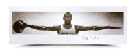 "Michael Jordan Signed Bulls ""Wings"" 23x72 Print (UDA Hologram) at PristineAuction.com"
