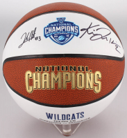 Josh Hart & Kris Jenkins Signed Villanova Wildcats 2016 National Champions Logo Basketball (JSA COA) at PristineAuction.com
