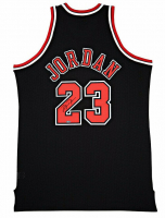 Michael Jordan Signed Chicago Bulls Authentic Mitchell & Ness Black Alternative Jersey (UDA COA) at PristineAuction.com