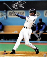 "Ken Griffey Jr. Signed Seattle Mariners ""Swinging"" 16x20 Photo Inscribed ""HOF 16"" (TriStar Hologram) at PristineAuction.com"