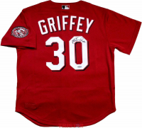 "Ken Griffey Jr. Signed Cincinnati Reds Mitchell & Ness Throwback Jersey Inscribed ""HOF 16"" (TriStar Hologram) at PristineAuction.com"
