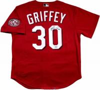 "Ken Griffey Jr. Signed Cincinnati Reds Mitchell & Ness Throwback Jersey Inscribed ""HOF 16"" (TriStar Hologram)"