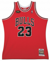 Michael Jordan Signed 1998 Mitchell & Ness Chicago Bulls NBA Finals Jersey (UDA COA)