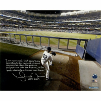 "Mariano Rivera Signed New York Yankees ""Warming Up in the Bullpen"" 16x20 Photo With Extensive Inscription (Steiner COA)"