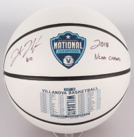 "Donte DiVincenzo Signed 2018 National Champions Villanova Wildcats Logo Basketball Inscribed ""2018 NCAA Champs"" (JSA COA) at PristineAuction.com"