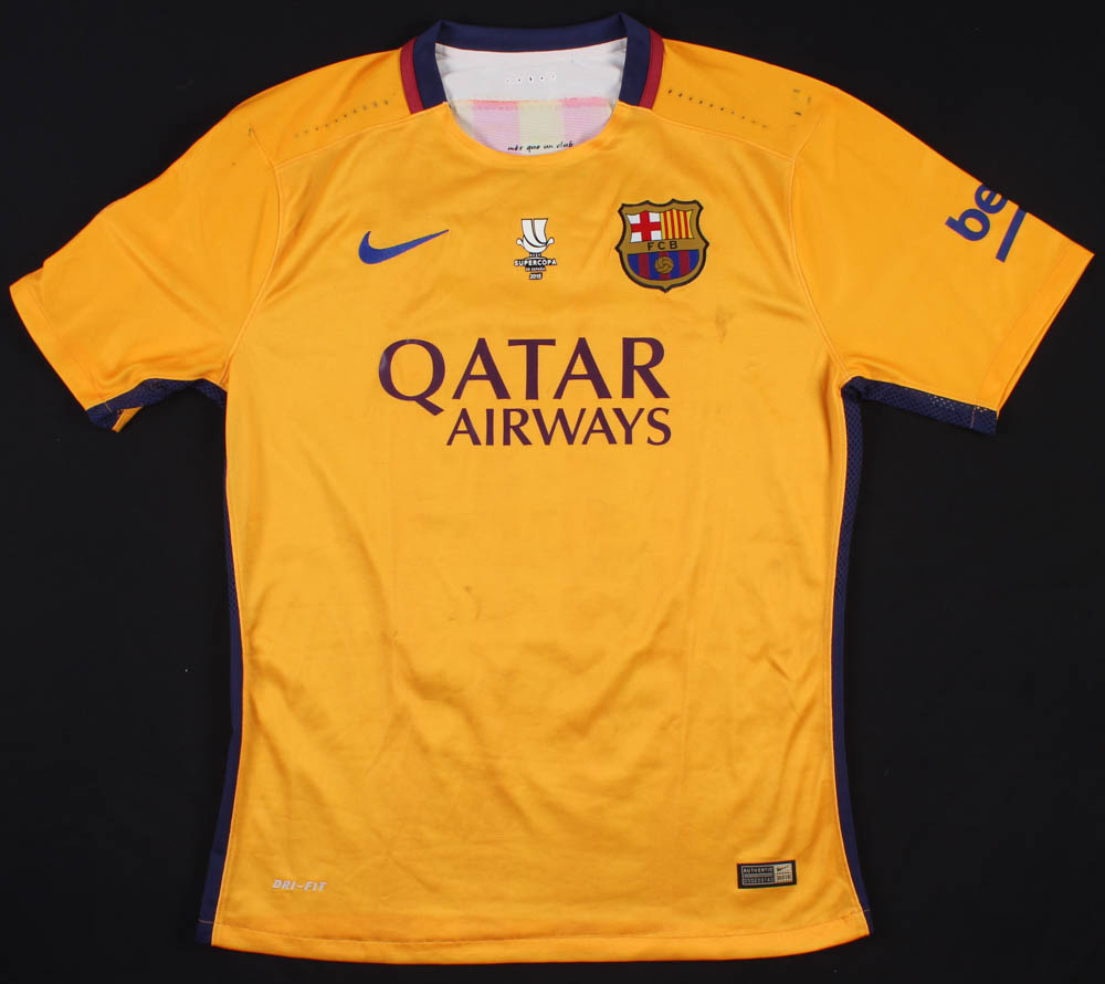 cc67f1b80 Lionel Messi Game-Used Barcelona Nike Jersey
