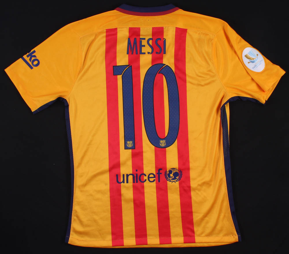 399692844 Lionel Messi Game-Used Barcelona Nike Jersey at PristineAuction.com