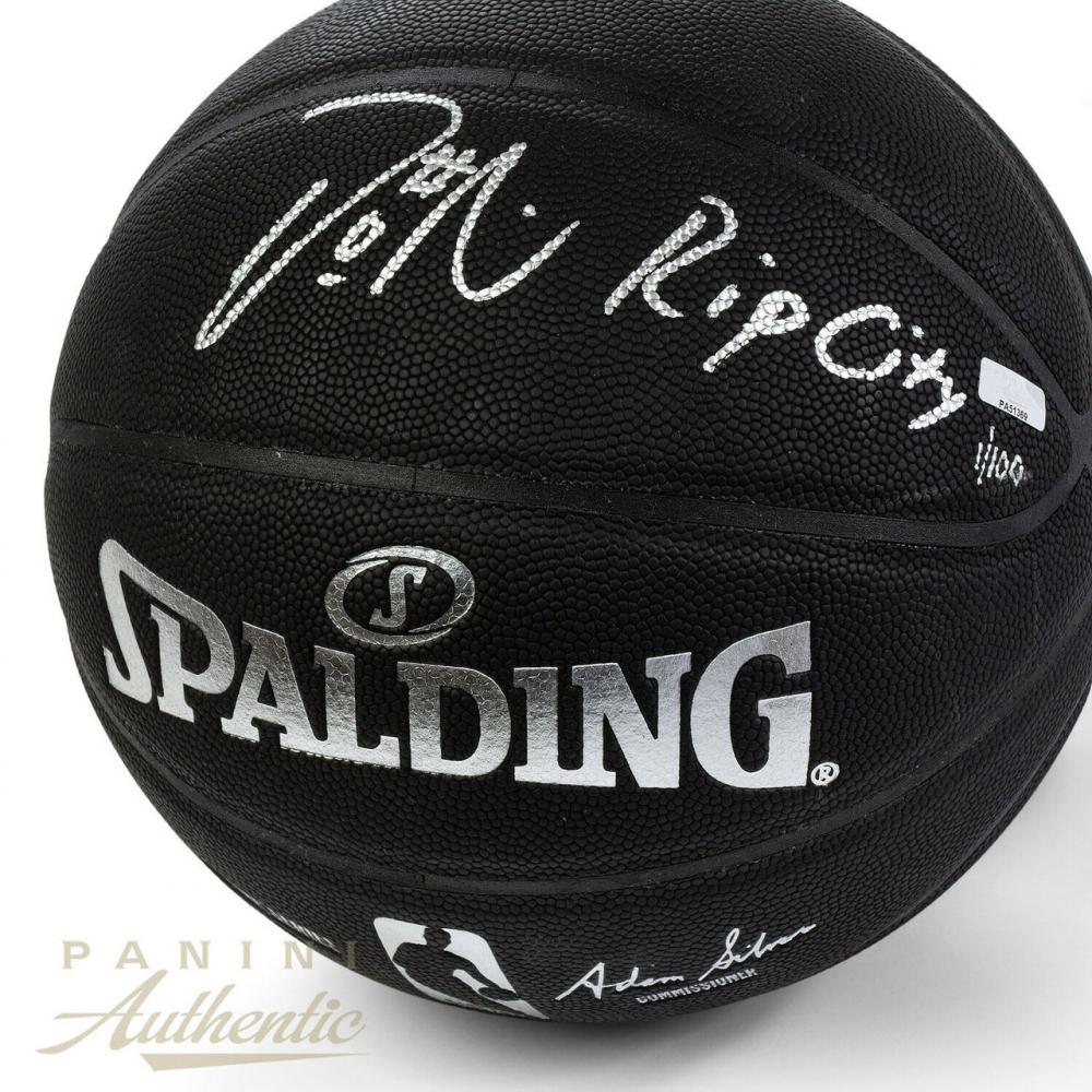 5794fe6d076 Damian Lillard Signed LE NBA Arena Series Black Basketball Inscribed