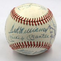 500 Home Run Club OAL Baseball Signed by (15) with Mickey Mantle, Ted Williams, Hank Aaron, Willie Mays, Eddie Mathews, Frank Robinson, Harmon Killebrew (JSA LOA)