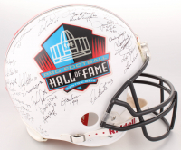 Football Hall of Fame Commemorative Full-Size Authentic On-Field Helmet Signed by (49) With Jim Brown, Joe Montana, Dan Marino, Jerry Rice, and Gale Sayers with Multiple Inscriptions  (JSA ALOA)