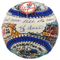 "Yogi Berra Signed New York Yankees Baseball Hand-Painted by Charles Fazzino Inscribed ""It Ain't Over Till It's Over"" (JSA LOA)"