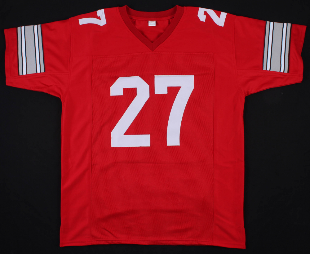 01f72dcca8d Eddie George Signed Ohio State Buckeyes Career Highlight Stat Jersey (JSA  COA) at PristineAuction
