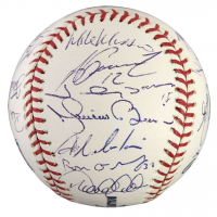 2008 New York Yankees OML Baseball Team-Signed by (23) with Mariano Rivera, Derek Jeter, Mike Mussina, Alex Rodriguez, Andy Pettitte, Jorge Posada (JSA LOA)