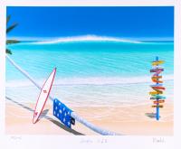 "Dan Mackin - ""Surfin' USA"" Signed Limited Edition 20x24 Fine Art Giclee #/275 (Mackin COA & PA LOA) at PristineAuction.com"